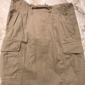 Tan/ Beige Cargo Skirt